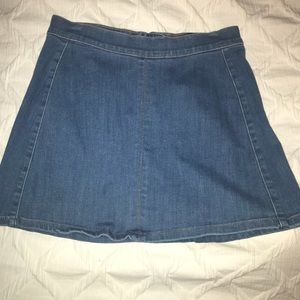 Express Jean Skater Mini Skirt